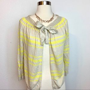 J. Crew Yellow Beige Cardigan Size Large